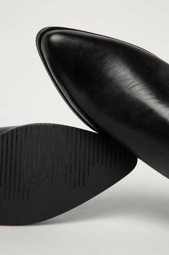 negru Tommy Jeans - Ghete Chelsea de piele
