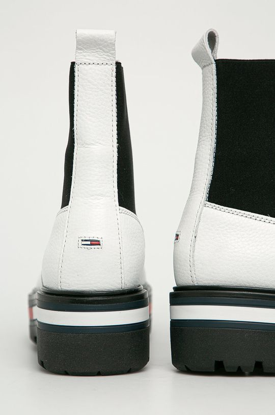 Tommy Jeans - Sztyblety skórzane Cholewka: Skóra naturalna, Wnętrze: Materiał tekstylny, Podeszwa: Materiał syntetyczny