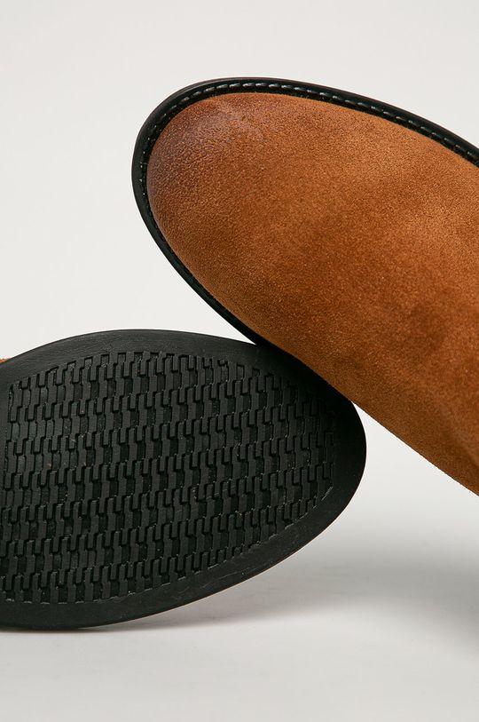 hnedá Tommy Jeans - Semišové topánky Chelsea
