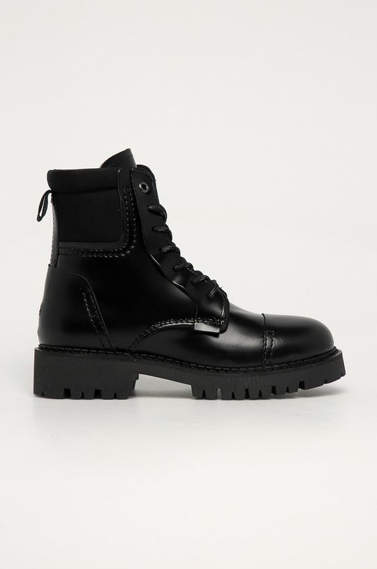 čierna Tommy Jeans - Kožené workery Dámsky