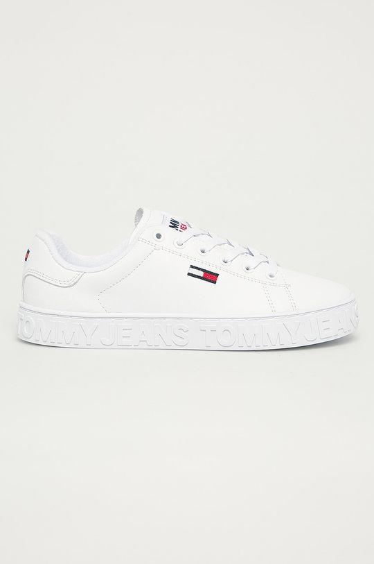 biela Tommy Jeans - Kožená obuv Dámsky