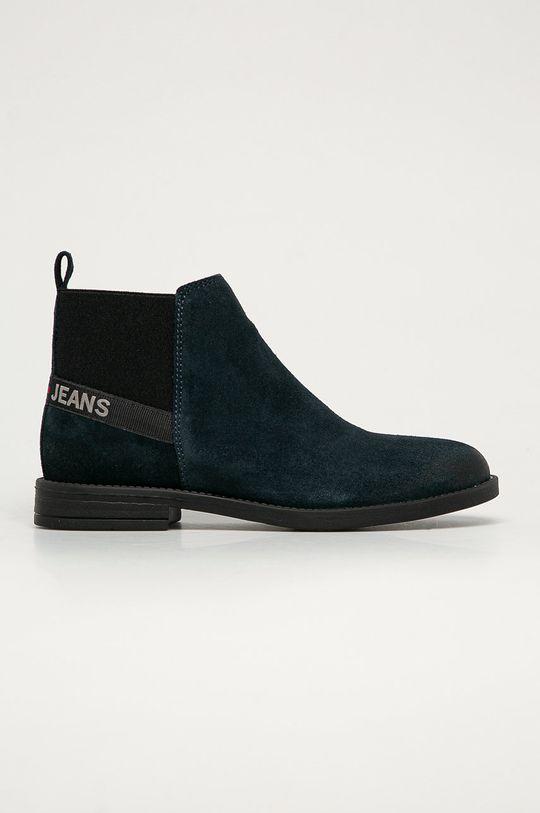 tmavomodrá Tommy Jeans - Semišové topánky Dámsky