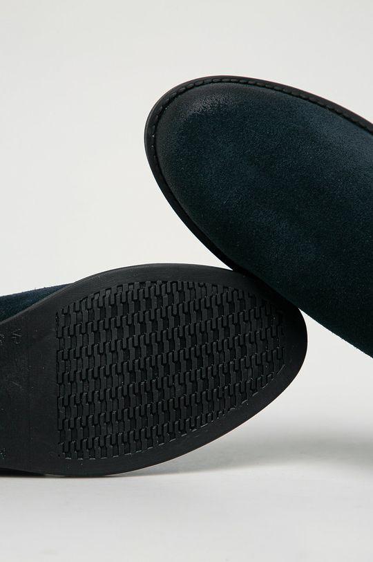 tmavomodrá Tommy Jeans - Semišové topánky