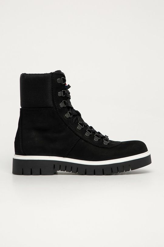 černá Tommy Jeans - Nízké kozačky Dámský