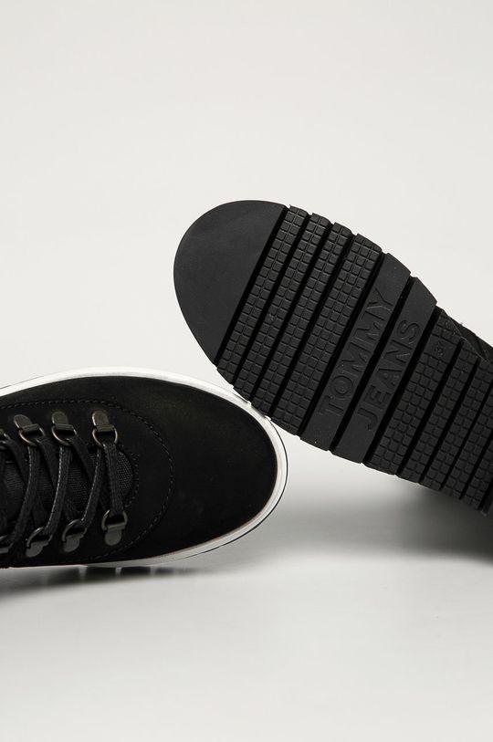 černá Tommy Jeans - Nízké kozačky