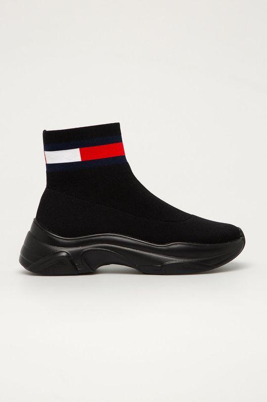 čierna Tommy Jeans - Topánky Dámsky
