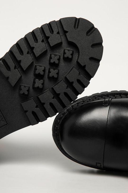 czarny Tommy Jeans - Workery skórzane