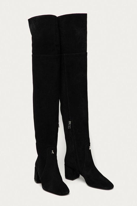 Patrizia Pepe - Semišové boty černá
