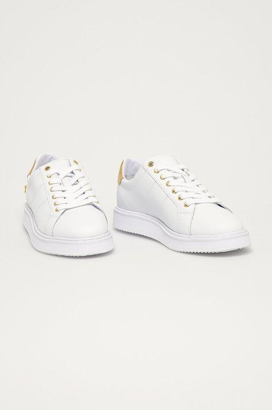 Lauren Ralph Lauren - Kožené boty bílá