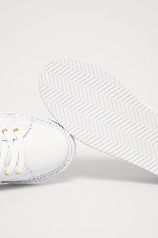bílá Lauren Ralph Lauren - Kožené boty