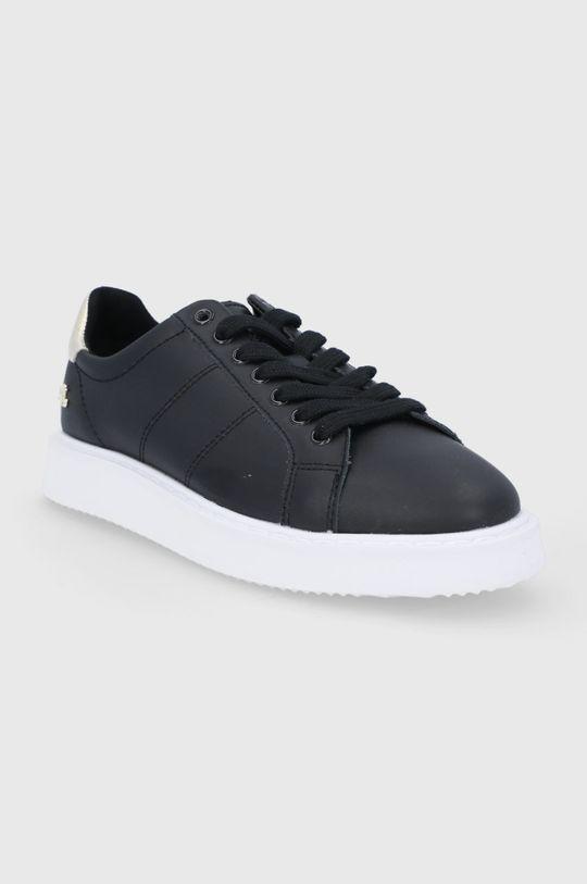 Lauren Ralph Lauren - Kožené boty černá