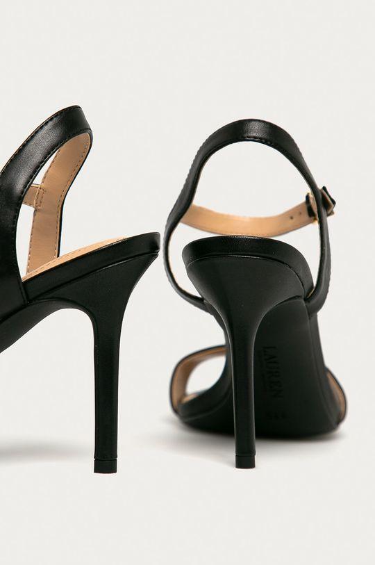 Lauren Ralph Lauren - Sandały skórzane Cholewka: Skóra naturalna, Wnętrze: Materiał syntetyczny, Podeszwa: Materiał syntetyczny
