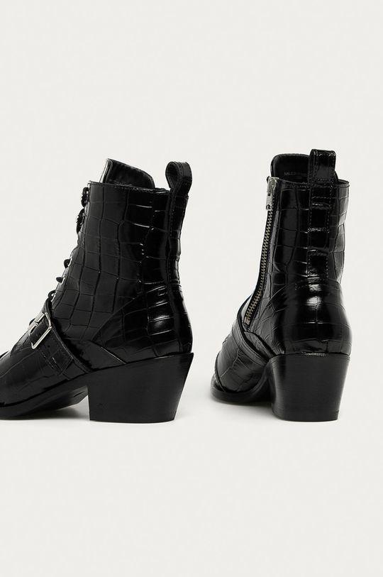 AllSaints - Kožené kotníkové boty Katy Croco  Svršek: Přírodní kůže Vnitřek: Přírodní kůže Podrážka: Umělá hmota