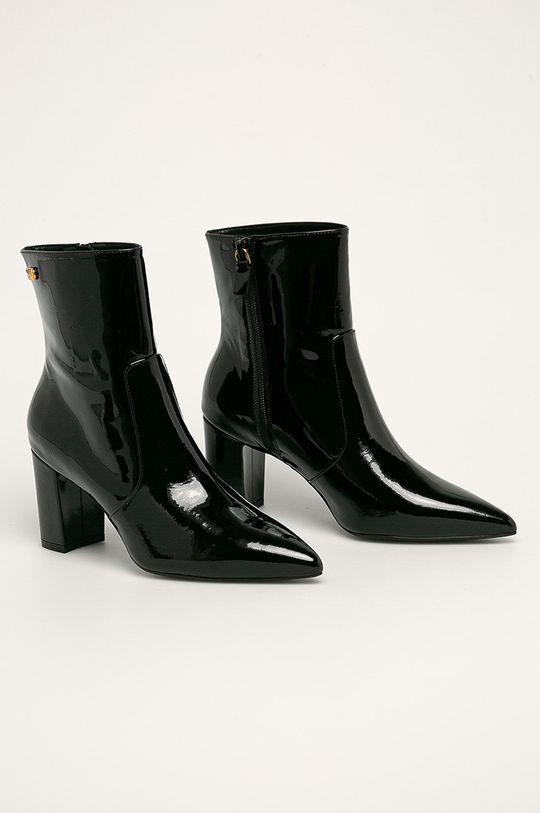 Stuart Weitzman - Kožené kotníkové boty Linaria černá