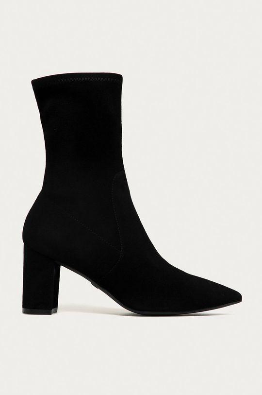 čierna Stuart Weitzman - Kožené členkové topánky Landry 75 Dámsky