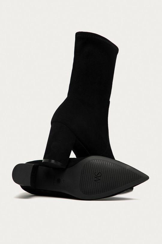čierna Stuart Weitzman - Kožené členkové topánky Landry 75