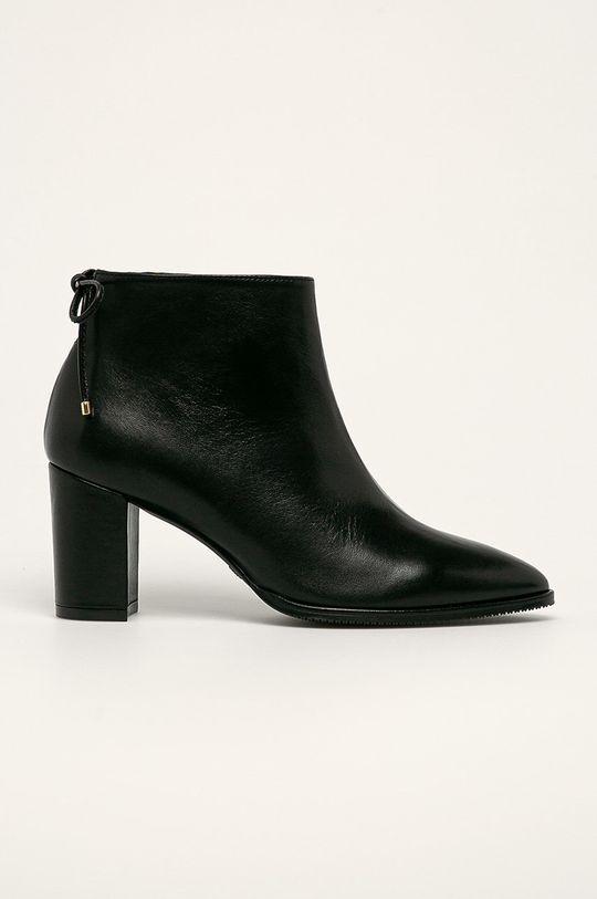 čierna Stuart Weitzman - Kožené členkové topánky Gardiner Dámsky
