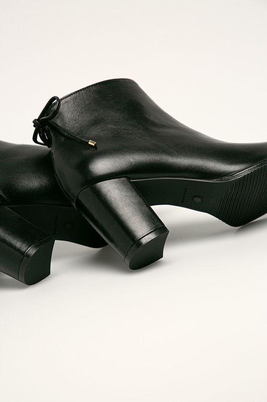 čierna Stuart Weitzman - Kožené členkové topánky Gardiner