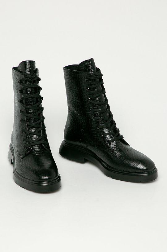 Stuart Weitzman - Kožené kotníkové boty McKenzee černá