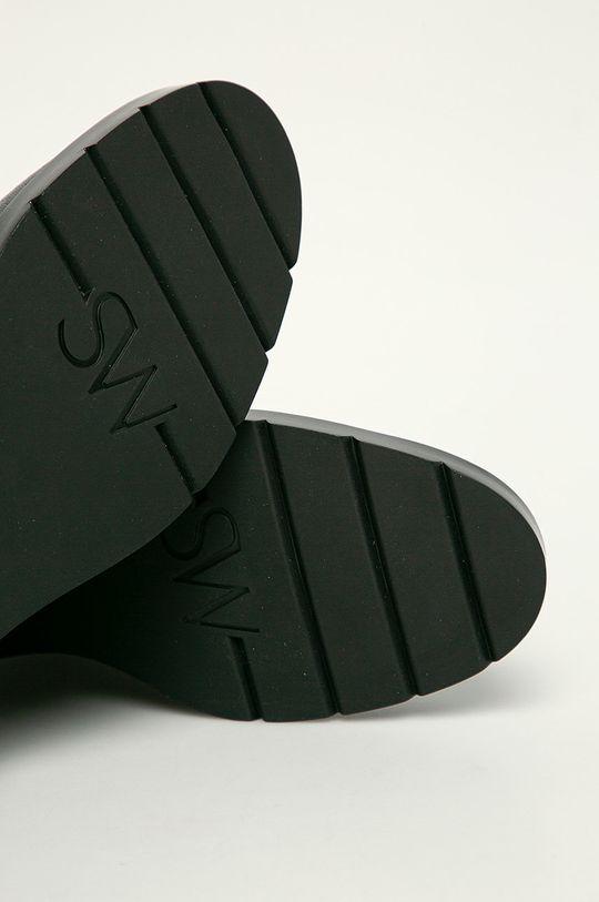 černá Stuart Weitzman - Kožené kotníkové boty McKenzee