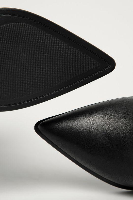 čierna Guess Jeans - Kožené členkové topánky