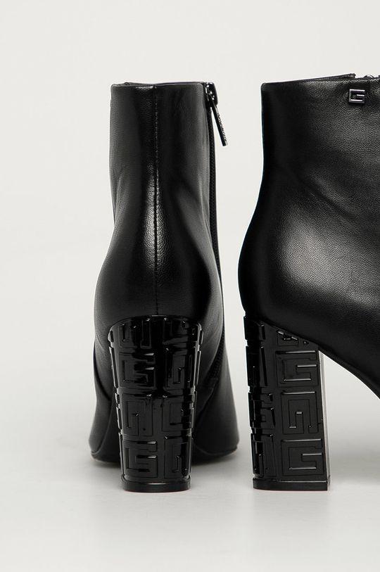 Guess Jeans - Kožené členkové topánky  Zvršok: Prírodná koža Vnútro: Syntetická látka, Textil, Prírodná koža Podrážka: Syntetická látka