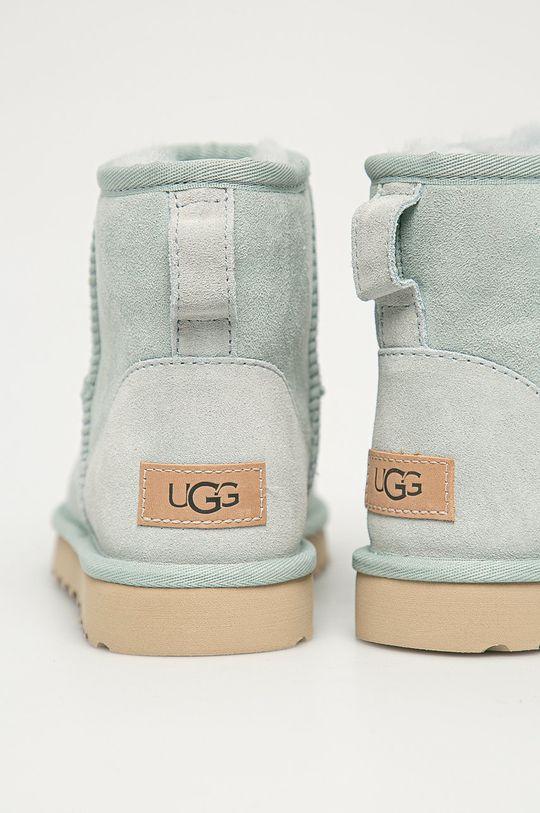 UGG - Cizme de zapada din piele intoarsa Classic Mini  Gamba: Piele intoarsa Interiorul: Lana de merinosi Talpa: Material sintetic