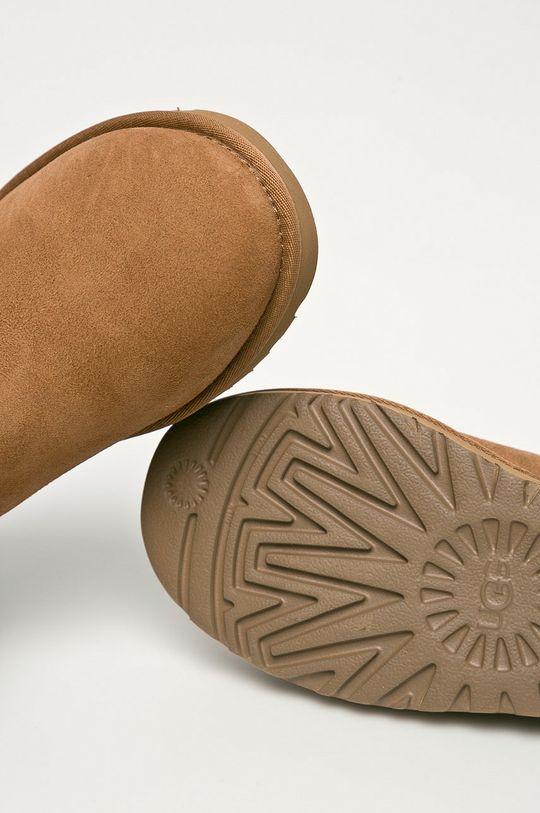 złoty brąz UGG - Śniegowce zamszowe Mini Bailey Button Blink