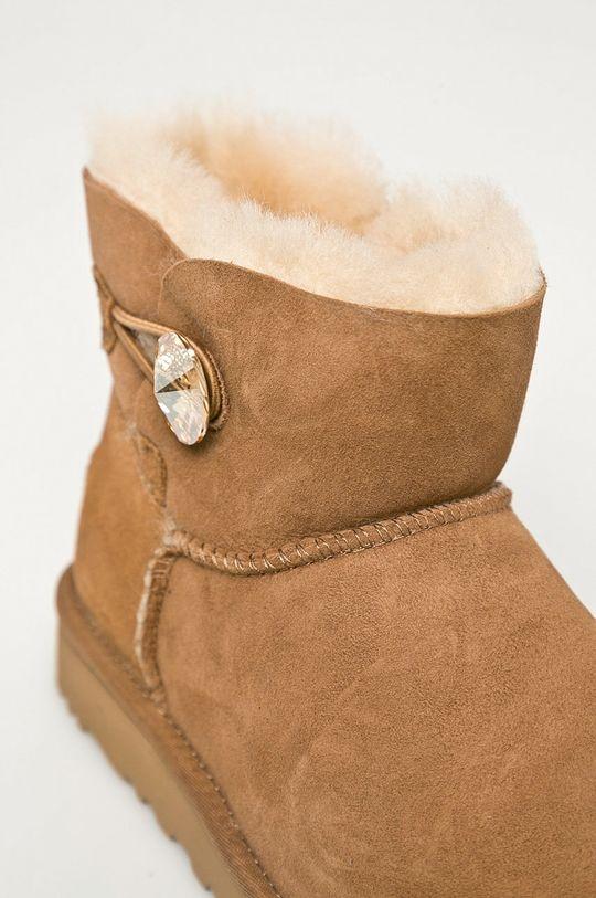 UGG - Śniegowce zamszowe Mini Bailey Button Blink Damski