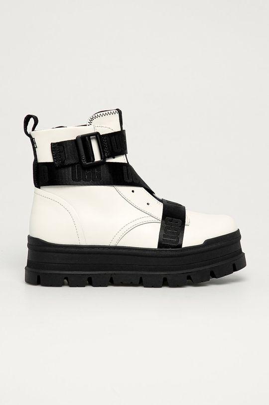 biały UGG - Buty skórzane Sid Damski