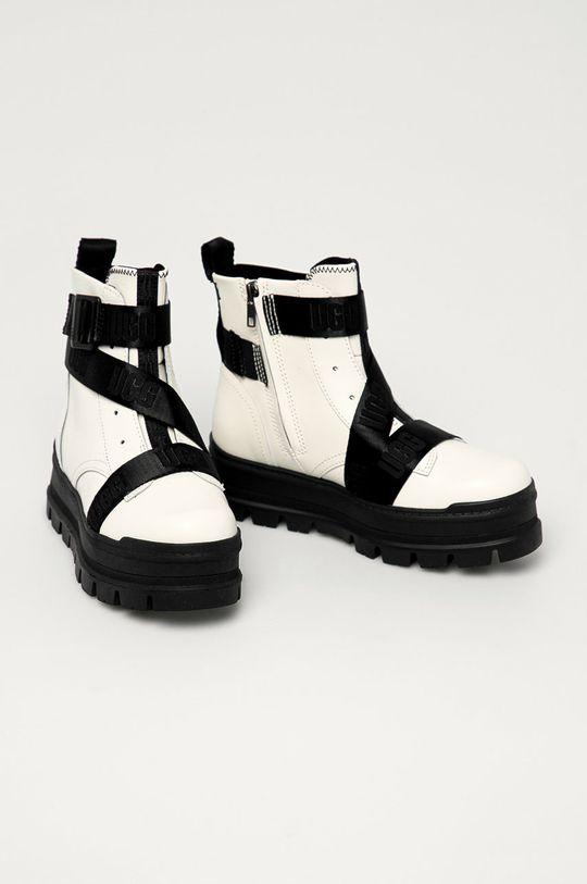 UGG - Buty skórzane Sid biały