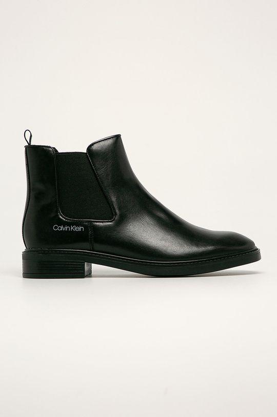 čierna Calvin Klein - Kožené topánky Chelsea Dámsky