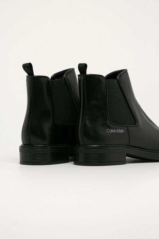 Calvin Klein - Kožené topánky Chelsea  Zvršok: Prírodná koža Vnútro: Syntetická látka, Prírodná koža Podrážka: Syntetická látka