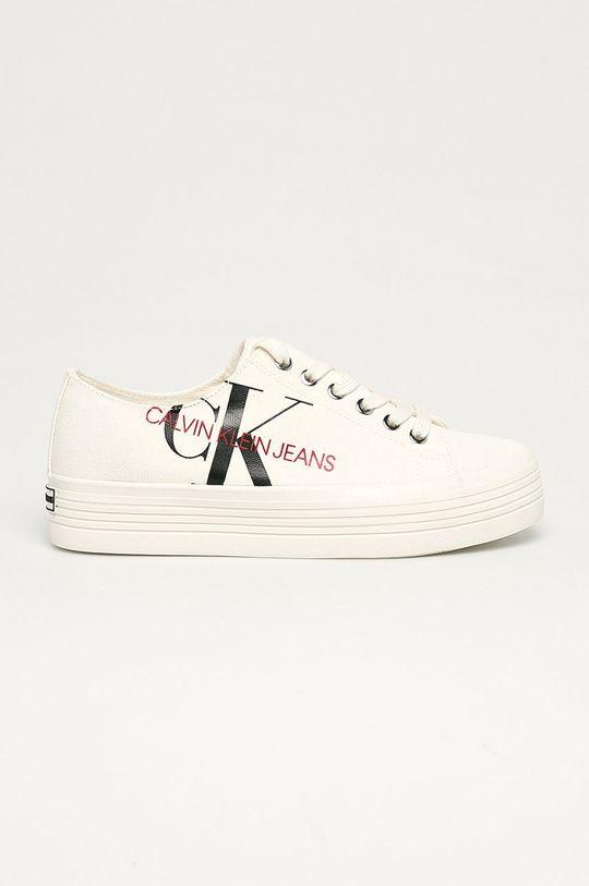 kremowy Calvin Klein Jeans - Tenisówki Damski