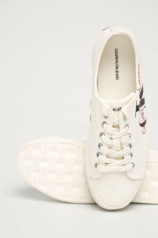 kremowy Calvin Klein Jeans - Tenisówki