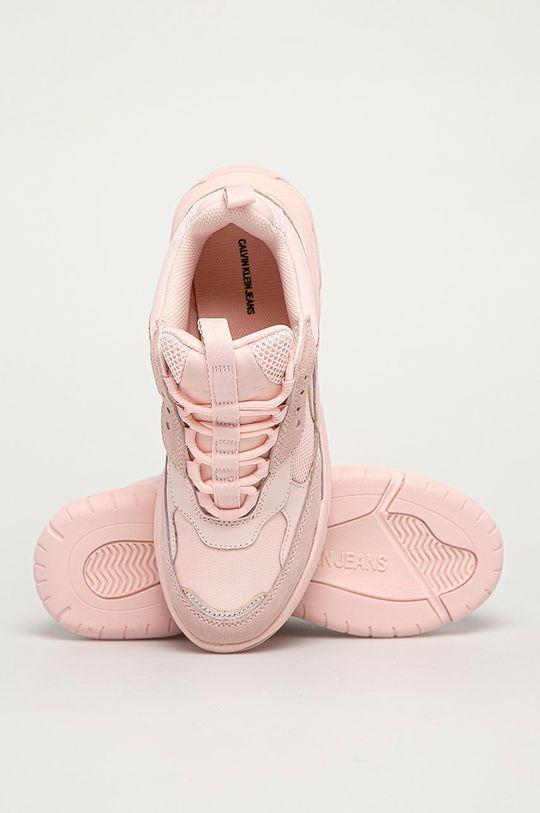 pastelově růžová Calvin Klein Jeans - Boty