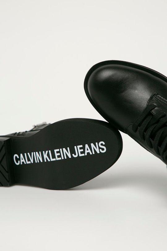 czarny Calvin Klein Jeans - Workery skórzane