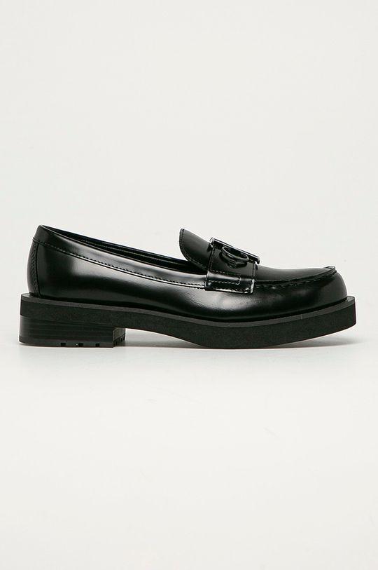 černá Calvin Klein Jeans - Kožené mokasíny Dámský