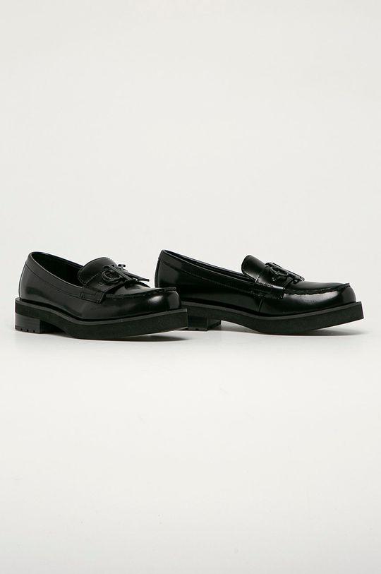 Calvin Klein Jeans - Kožené mokasíny černá