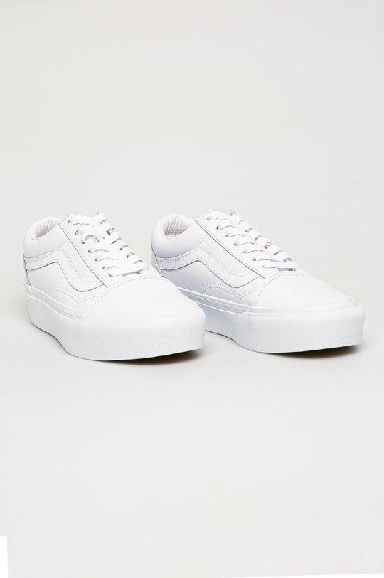 Vans - Kožená obuv biela