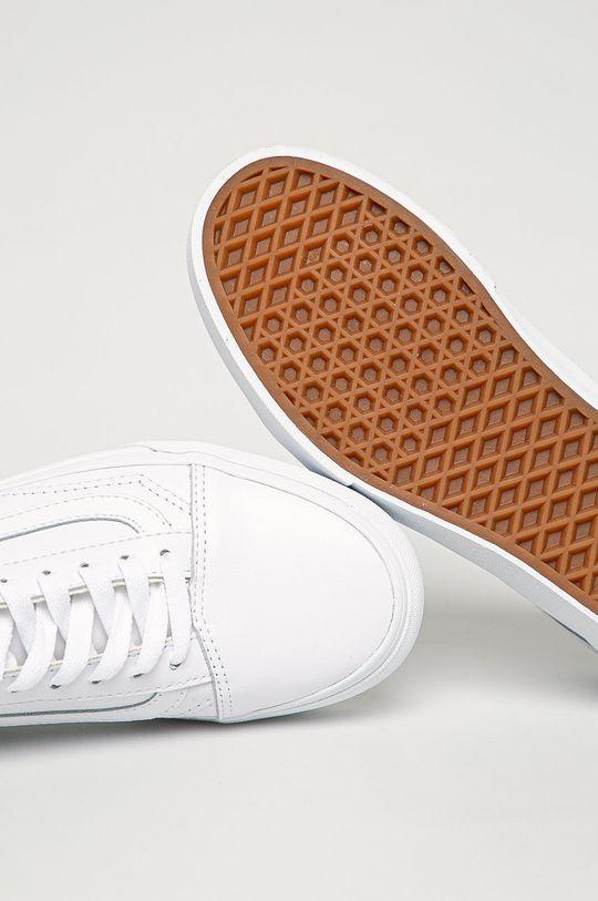 biela Vans - Kožená obuv