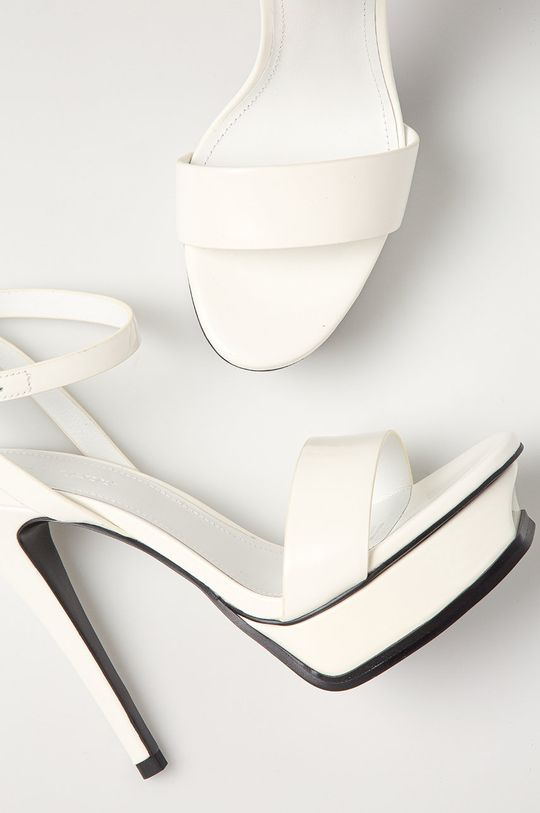 biały Miss Sixty - Sandały skórzane