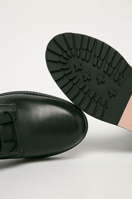 černá Red Valentino - Kožené kotníkové boty