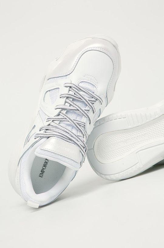 biela Emporio Armani - Topánky