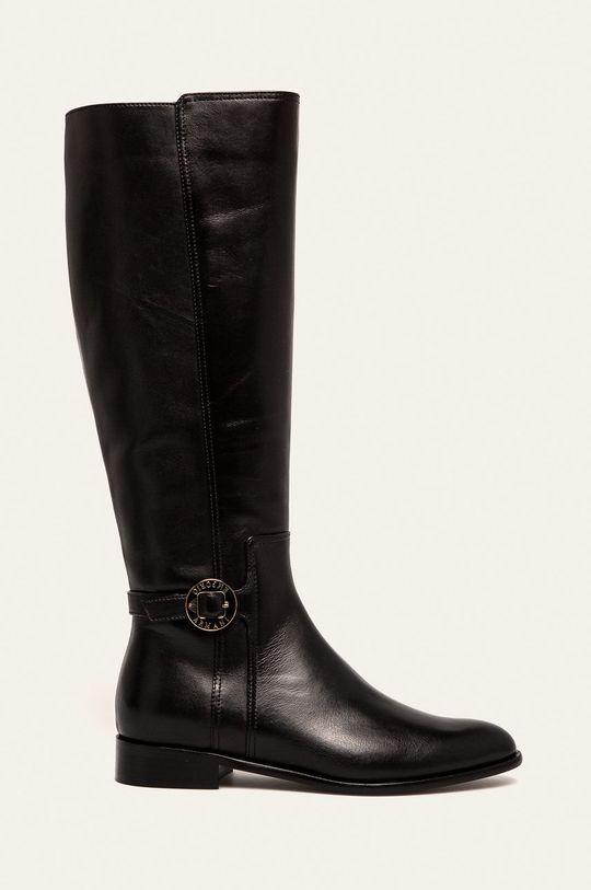 чорний Emporio Armani - Шкіряні чоботи Жіночий