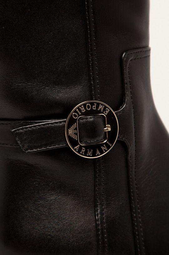 Emporio Armani - Шкіряні чоботи чорний