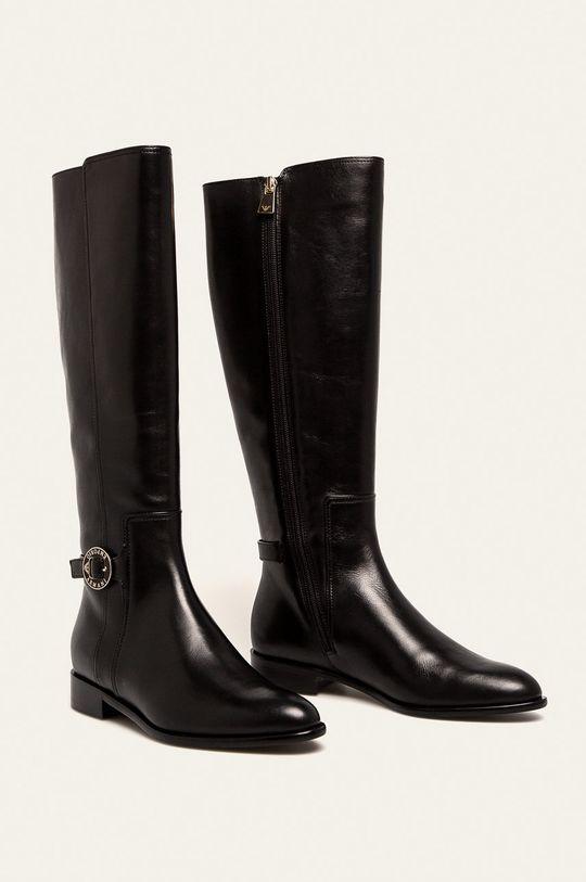 Emporio Armani - Шкіряні чоботи  Халяви: Натуральна шкіра Внутрішня частина: Синтетичний матеріал, Натуральна шкіра Підошва: Синтетичний матеріал