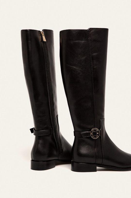 чорний Emporio Armani - Шкіряні чоботи
