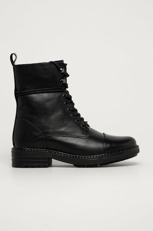 černá Aldo - Kožené kotníkové boty Onoressa Dámský