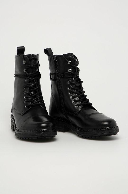 Aldo - Kožené kotníkové boty Onoressa černá
